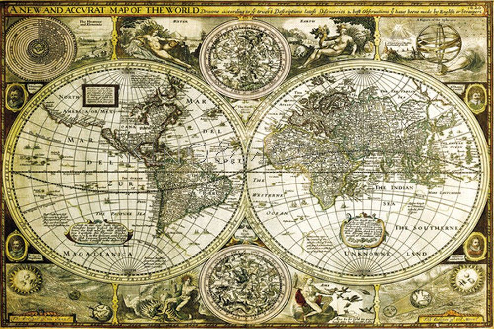 World Map 1626 Poster by John Speed