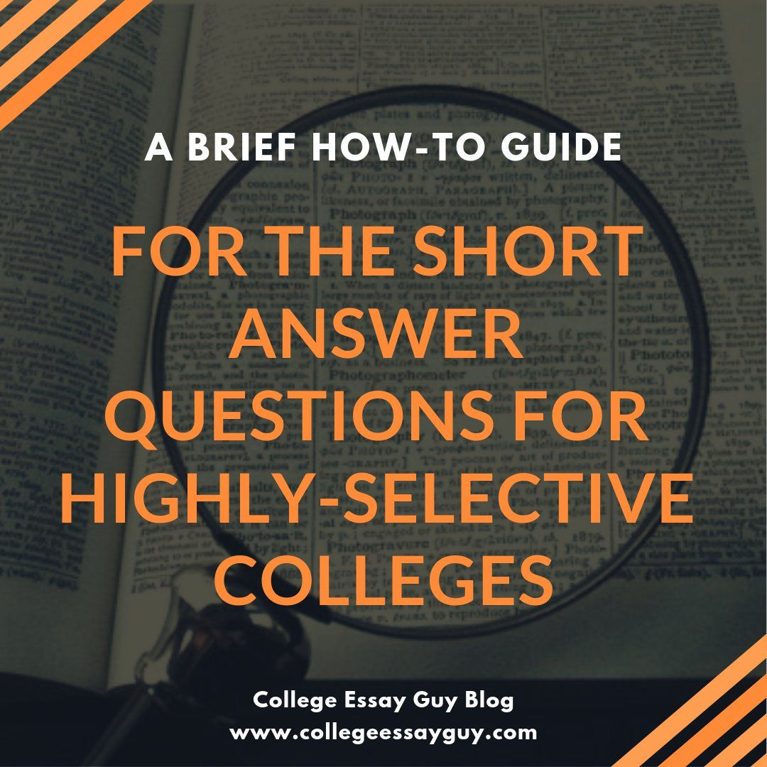 A Brief Howto Guide For The Short Answer Questions For Highly  You Know Those Common App Short Answer Questions Required By Usc Columbia  Stanford Need Help Writing also Science Essay Ideas  Essay About Healthy Lifestyle