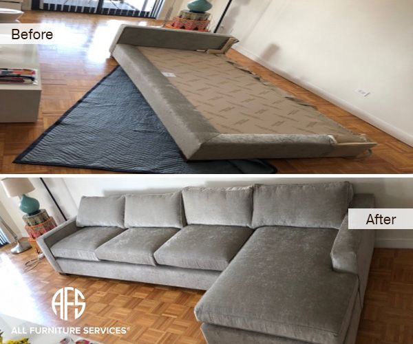 Furniture Sectional Sofa Upholstered Disassembly No Fit Moving