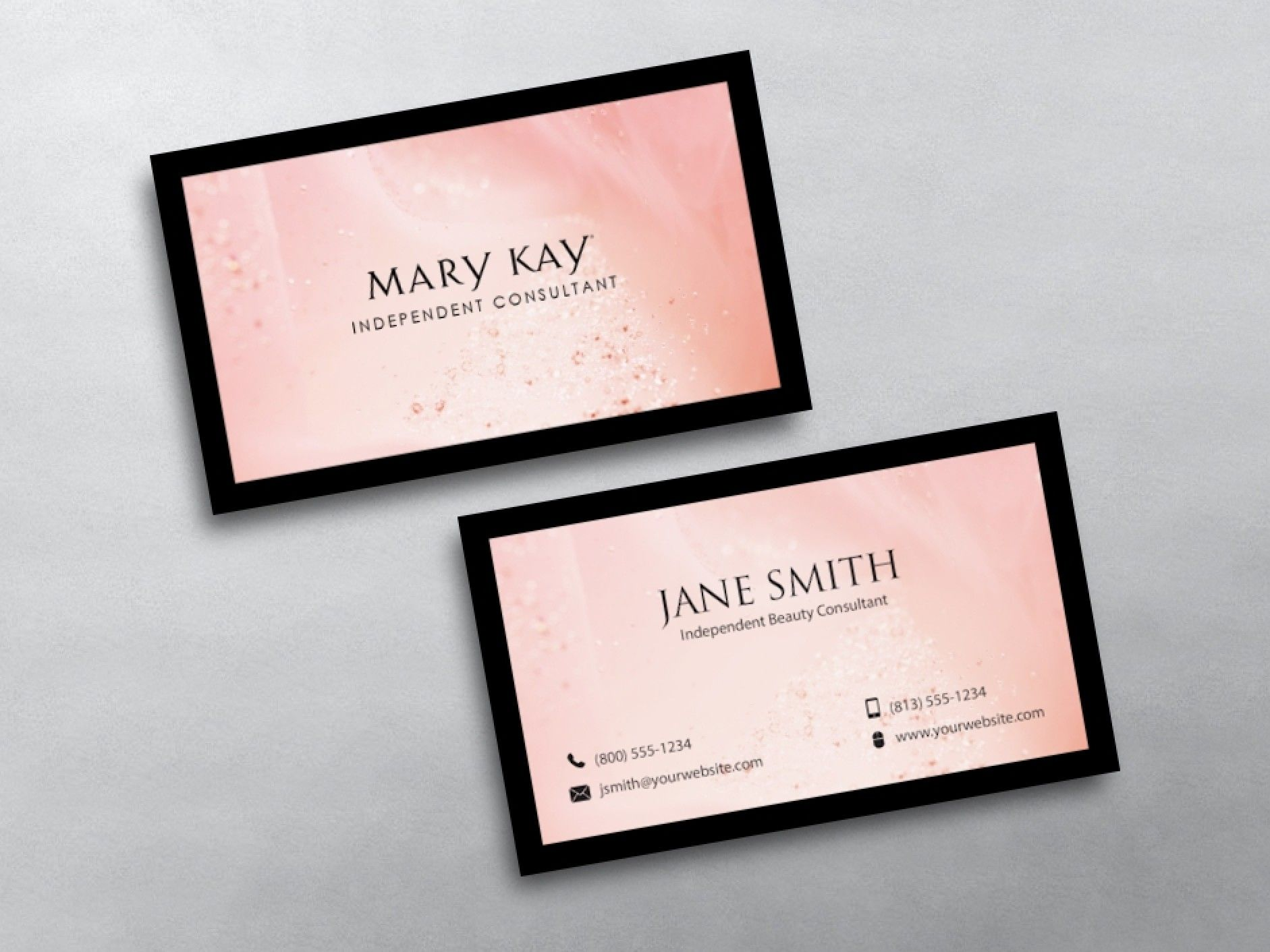 Mary Kay Business Cards | Beauty consultant and Mary kay