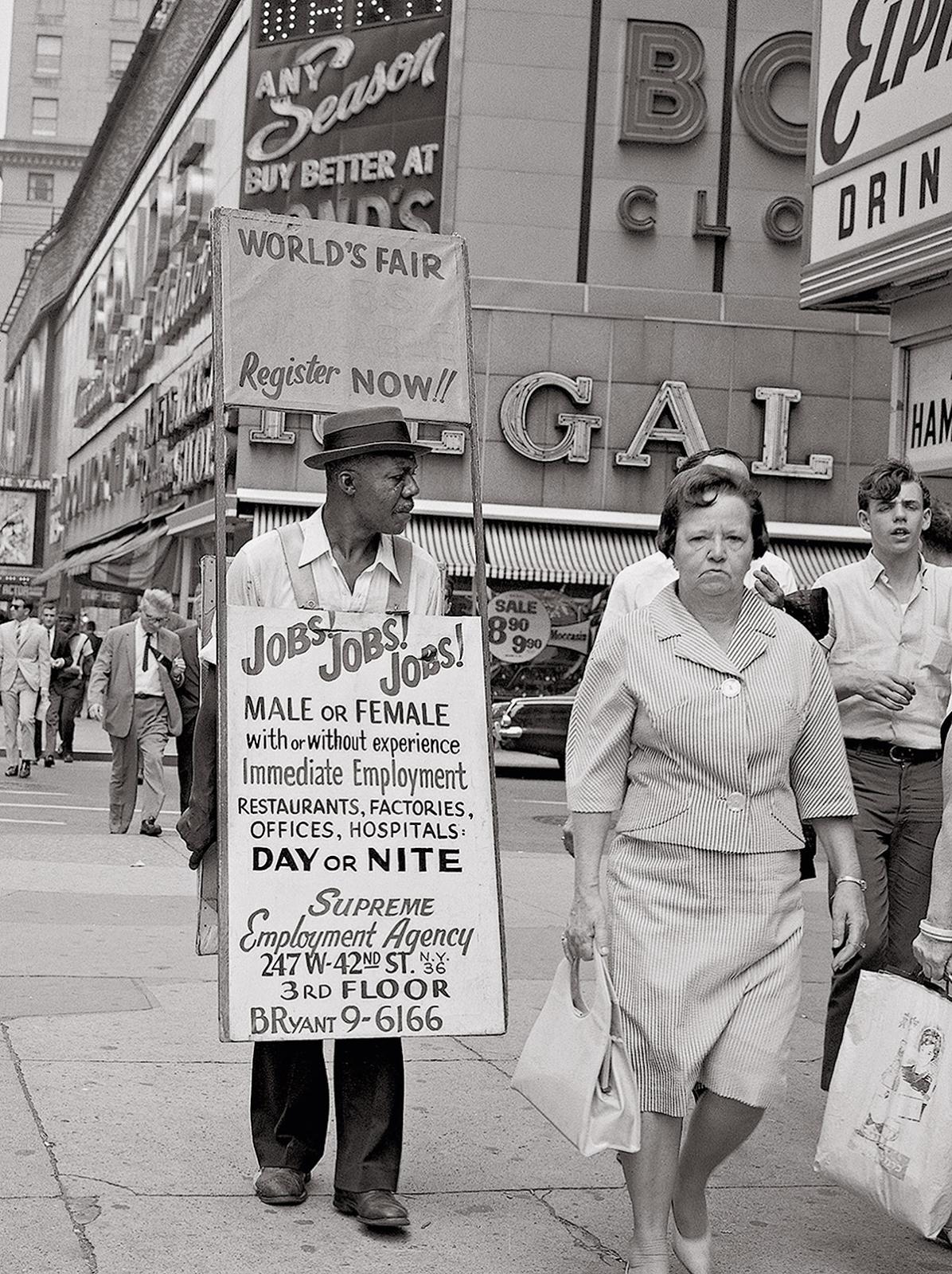 Jobs Jobs Jobs Theater District New York Ca 1960s New