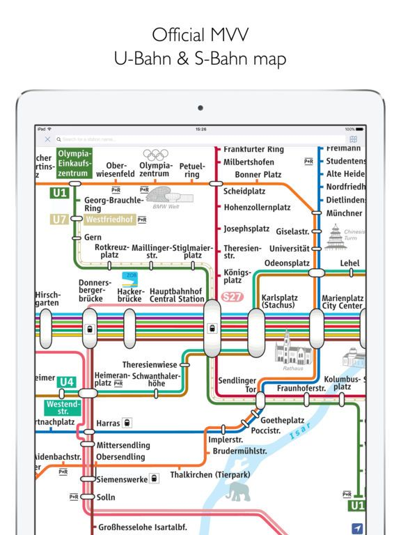 Munich Metro MVG map and route planner by Mapway Limited Germany