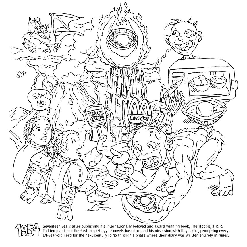Kitchen Overlord Coloring Book Eye Of Sauron Page