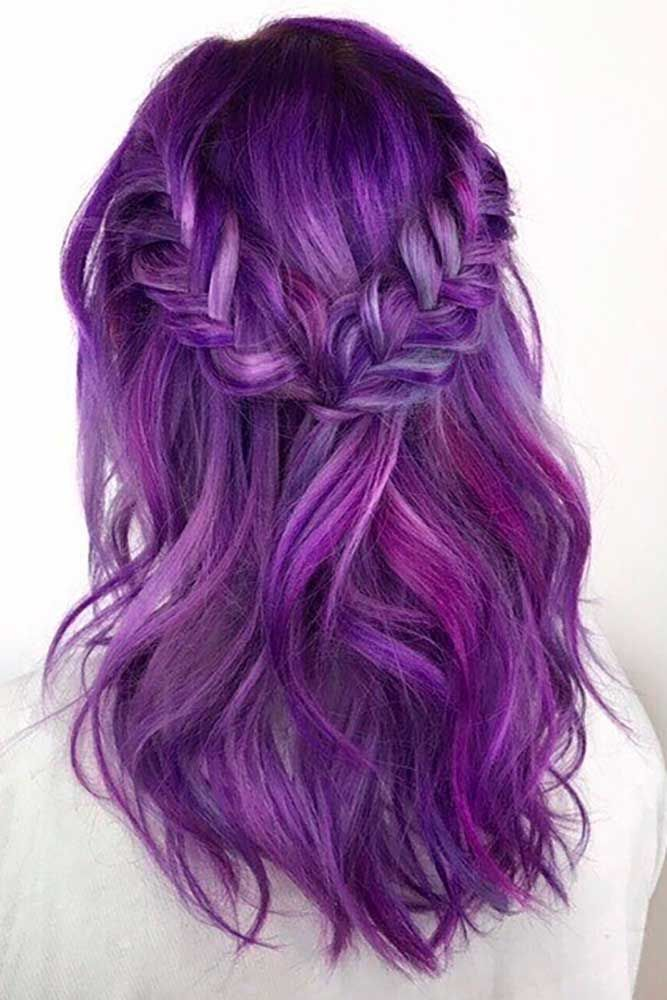 Purple Hair Is Now A Huge Trend Among Chic Fashionistas And Celebrities Kesha And Katy Perry Ro Cool Hair Color Purple Hair Color Highlights Hair Color Purple