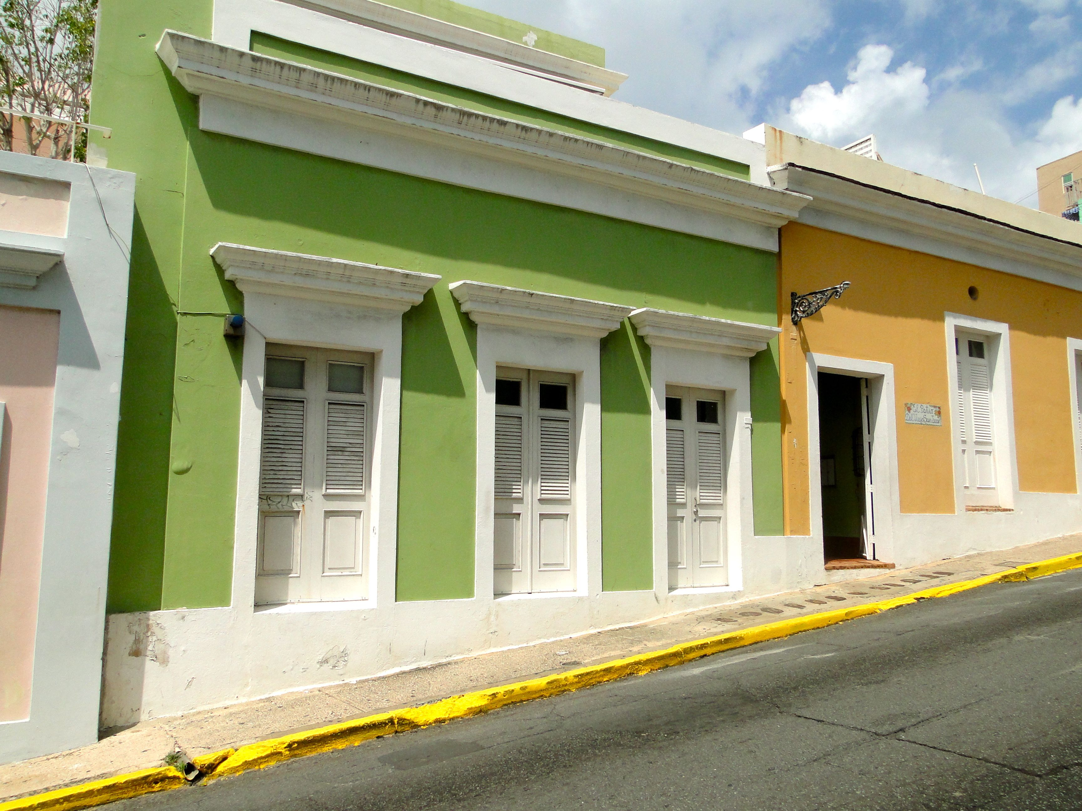 Colorful homes in Old San Juan, Puerto Rico.