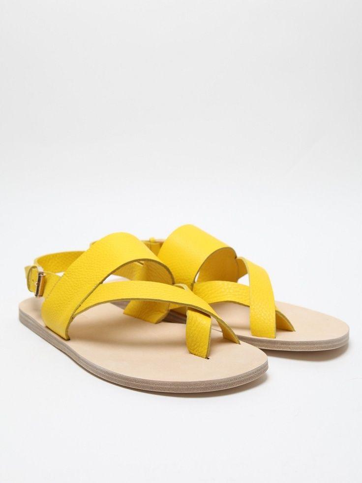 1d5ecb9929093 Jil Sander Men's Sandal in yellow at oki-ni | Yellow | Pinterest ...