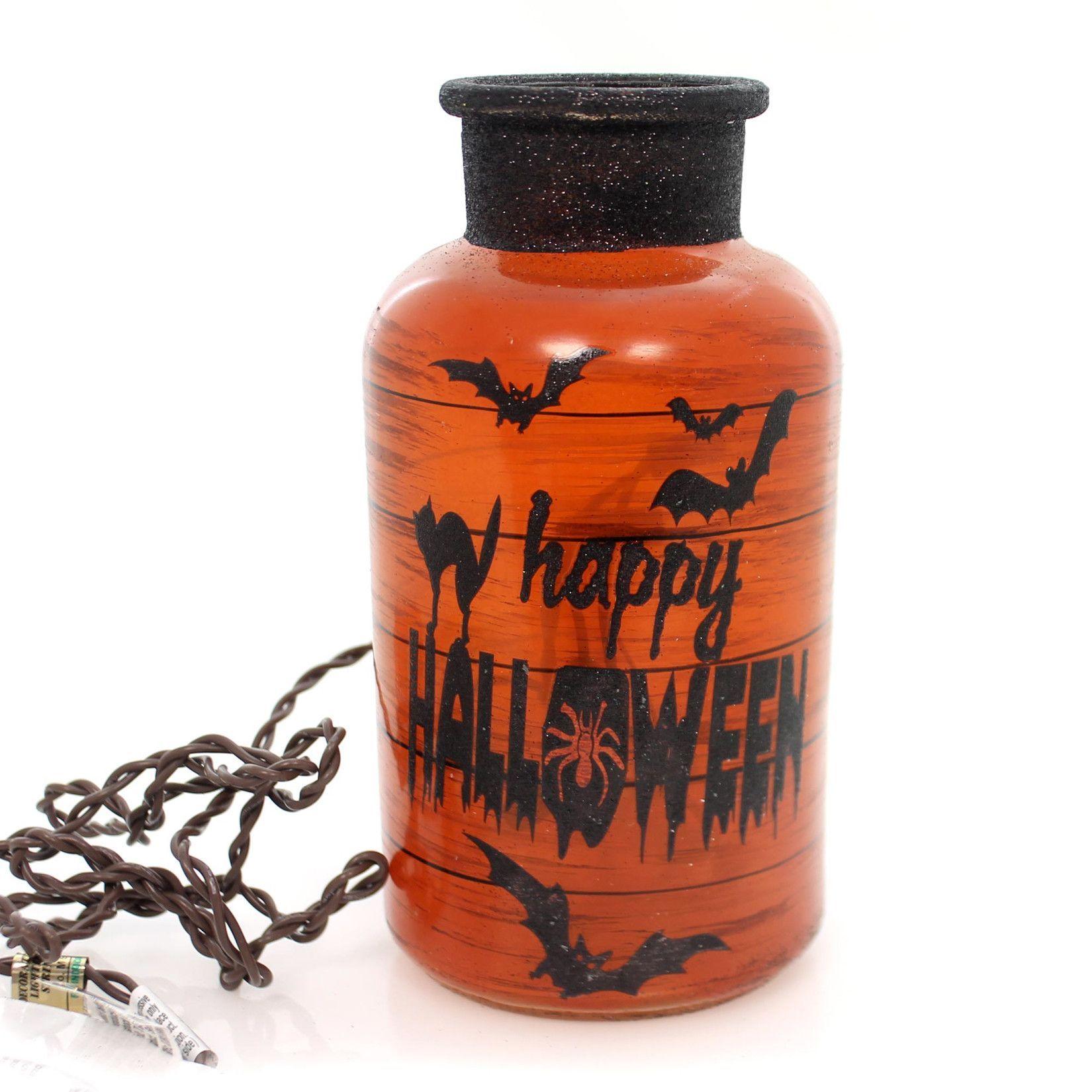 Stony Creek Halloween Lit Jar Halloween Decor | Tomb Sweet Tomb ...
