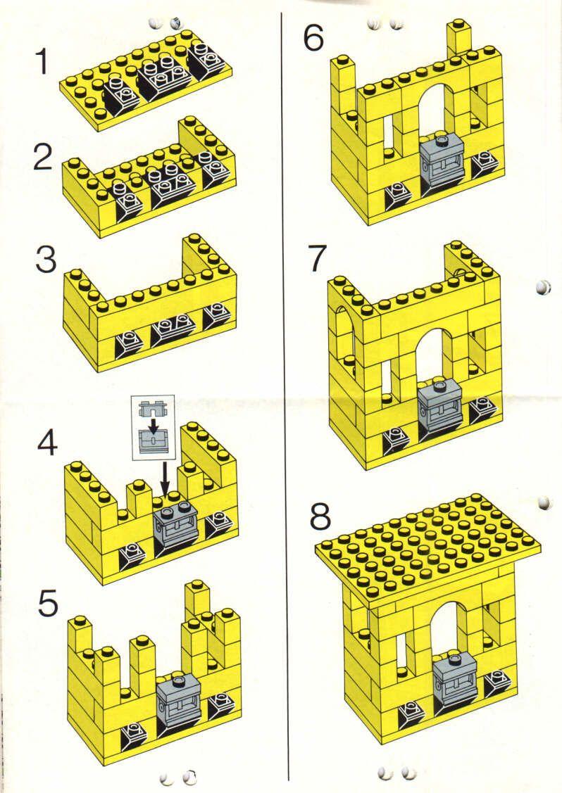 City Castle Town Square Lego 1592 Lego Lego Instructions
