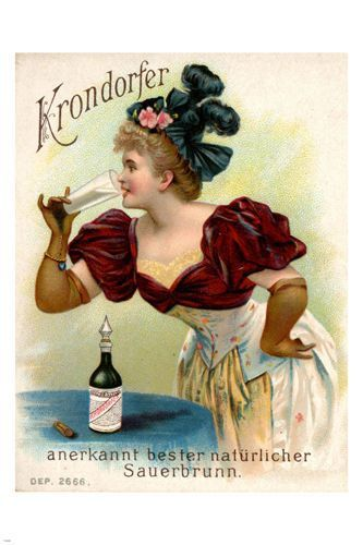 KRONDORFER sauerbrunnen MAG cover vintage POSTER 1900 24X36 old FASHIONED