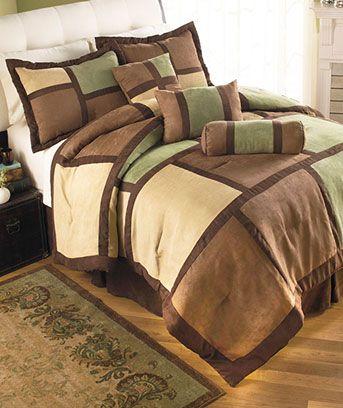 7 Pc Microsuede Comforter Sets Brown Comforter Sets Comforter Sets Brown Pillows