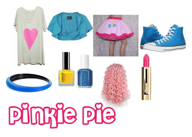 """""""Pinkie Pie Equestria Girls Closet Cosplay"""" by thecrystalheart on Polyvore featuring Converse, Alexis Bittar, Essie and Guerlain"""