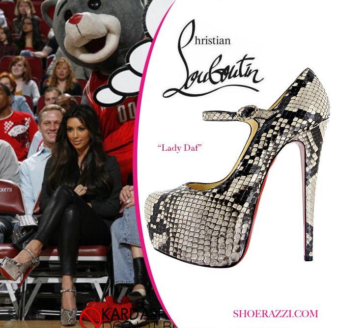 a964f391cdc Kim Kardashian in Christian Louboutin