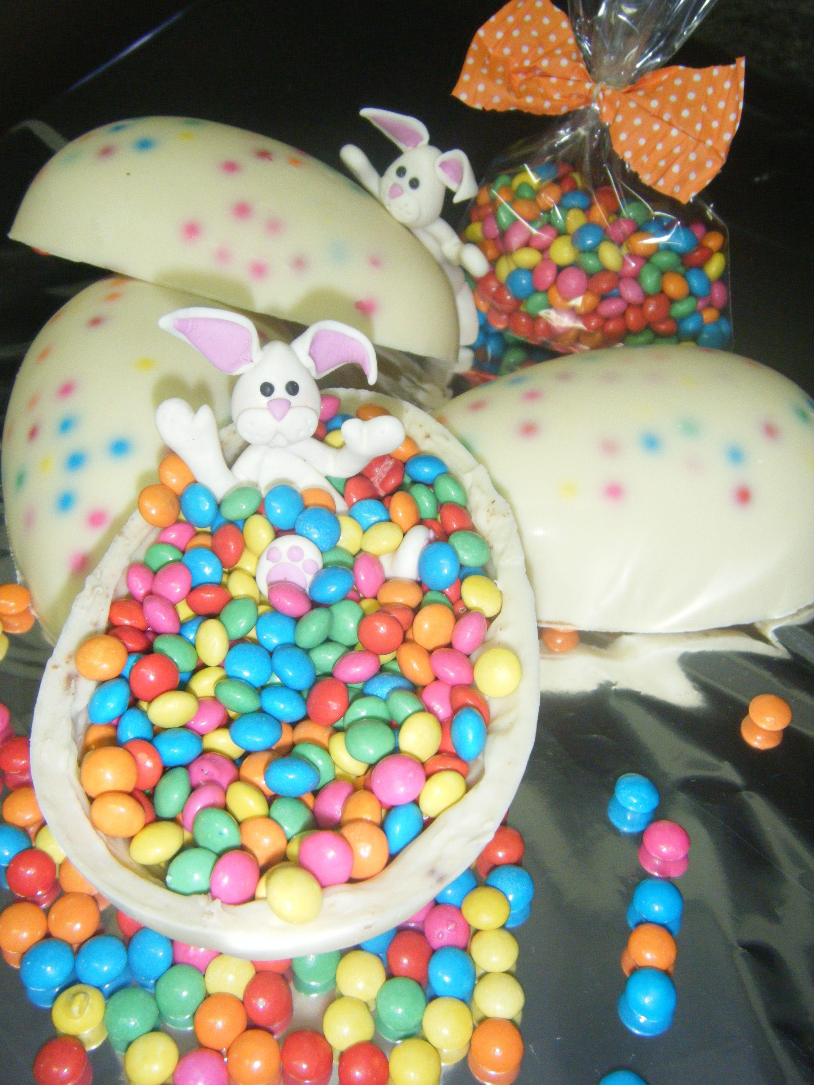 white chocolate with confetti