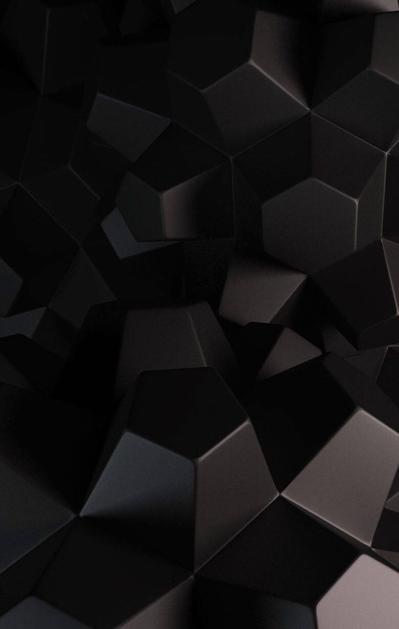 Black Cubes Hexagon Wallpaper 3d Wallpaper For Mobile Abstract Wallpaper