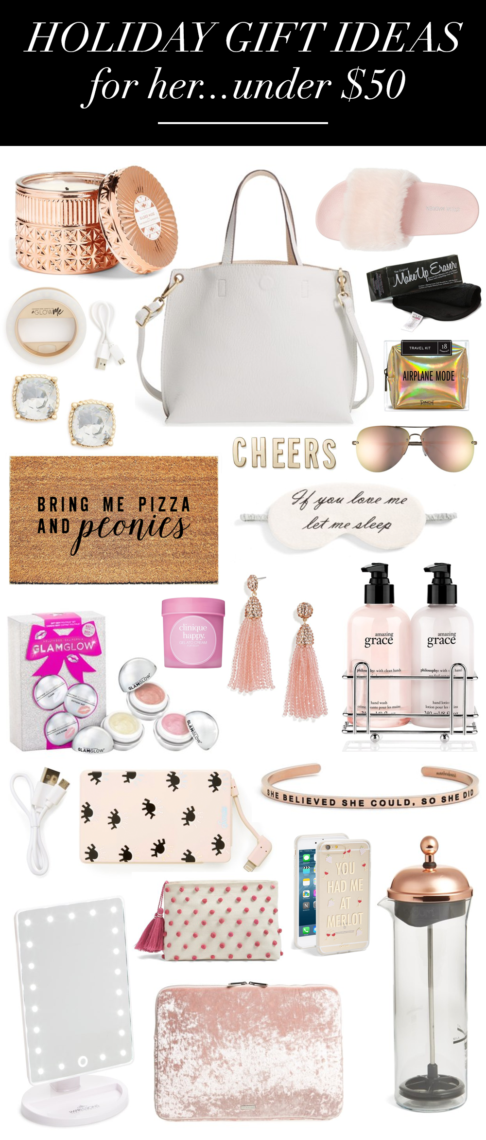 Bring Me Pizza And Peonies Holiday Gift Ideas For Her Under 50
