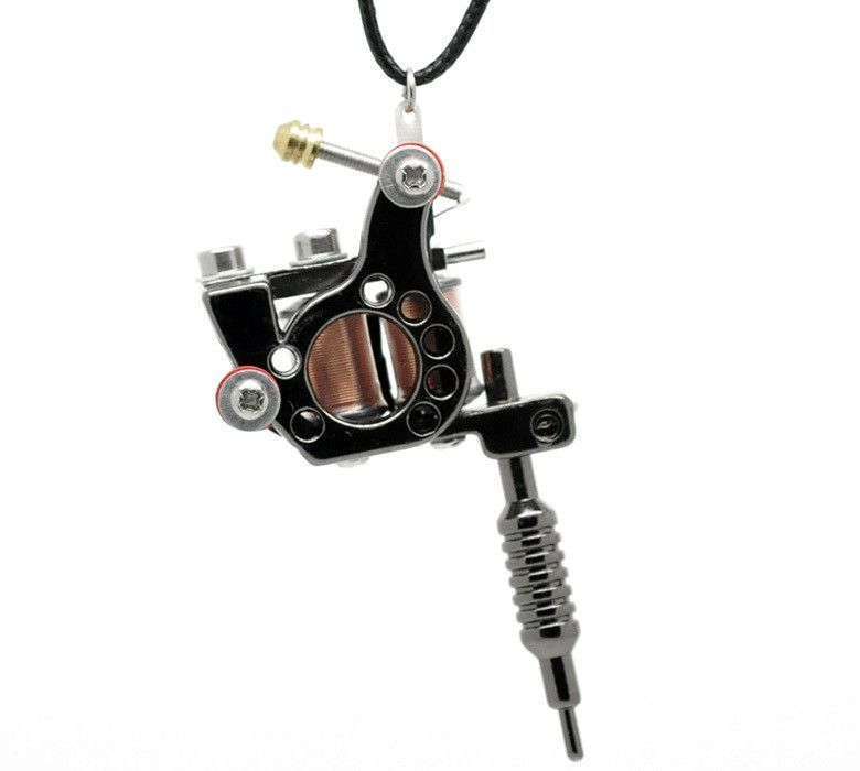 Tattoo machine pendant necklace included tattoo pinterest tattoo machine pendant necklace included aloadofball Gallery