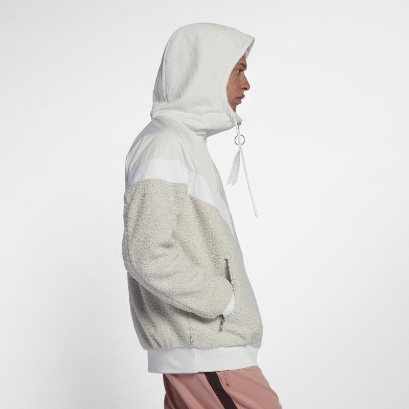 chiaro e distintivo cerca il meglio bello economico Nike Sportswear NSW Sherpa Windrunner Men's Jacket - White | Mens ...