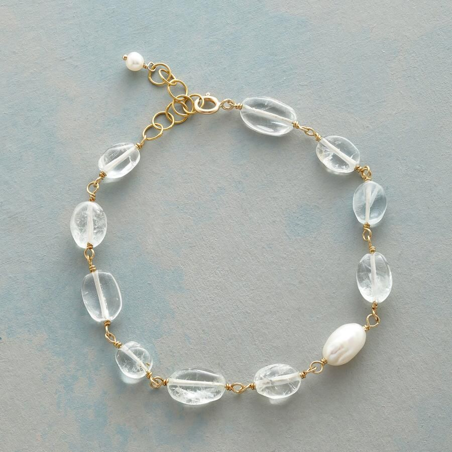 bradley jewelry bracelet with vera clear metallic s lyst women links in slider silver tone whisper