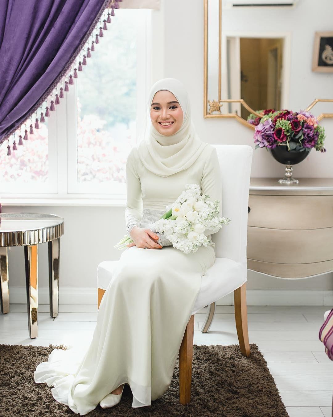 Pin By Lelushka Hijab Accessories On Hijab Wedding Style Nikah Dress Wedding Dress Long Sleeve Muslim Wedding Dresses [ 1350 x 1080 Pixel ]