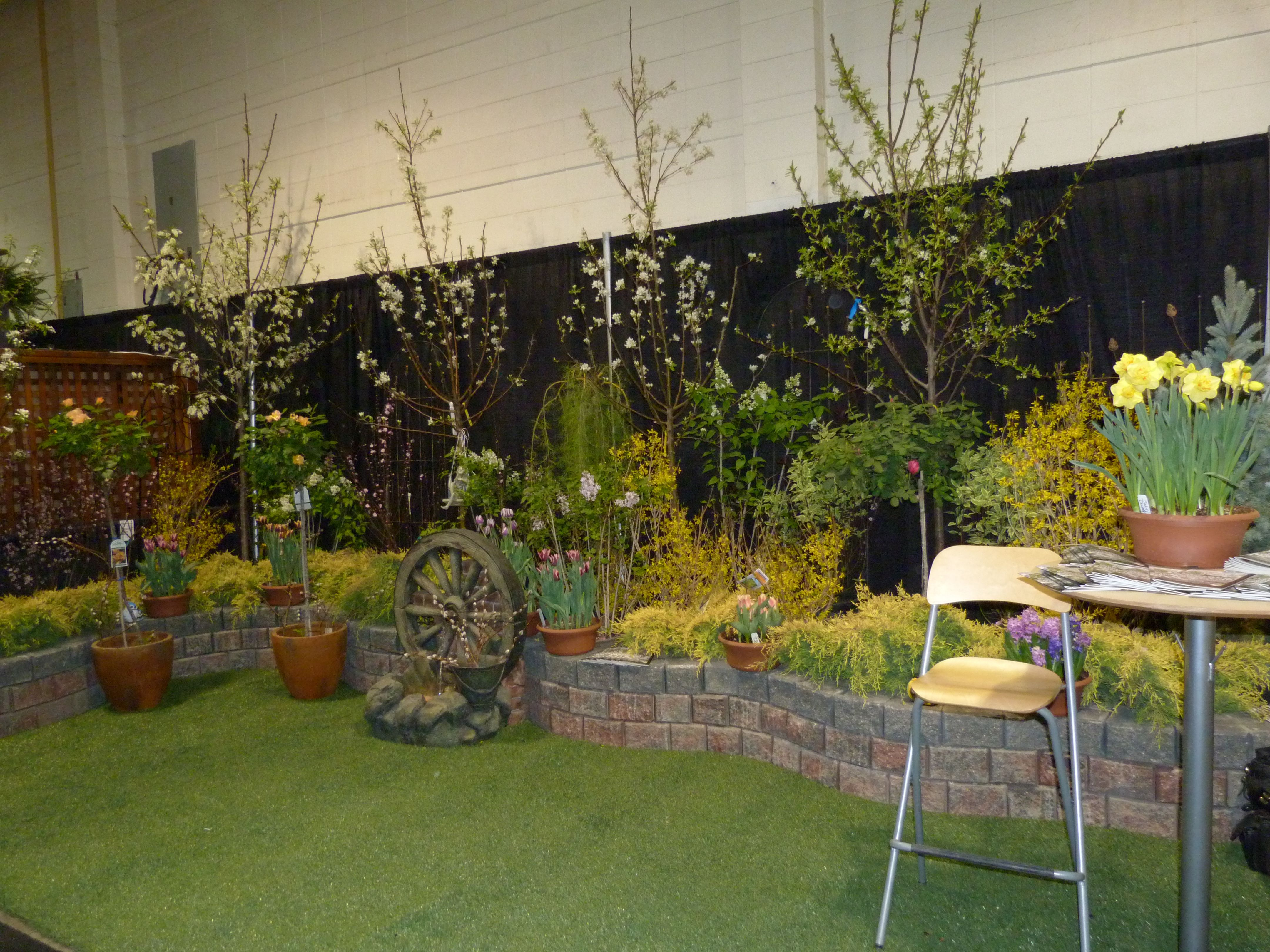The flowery booth from Eagle Lake Nurseries after set up at the ...