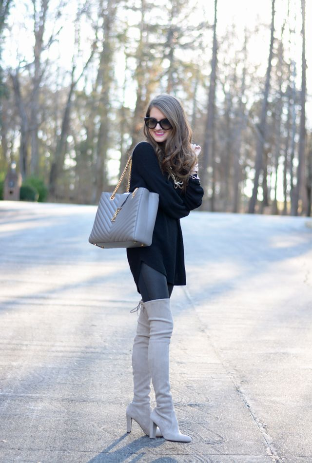 Southern Curls & Pearls: Black & Grey