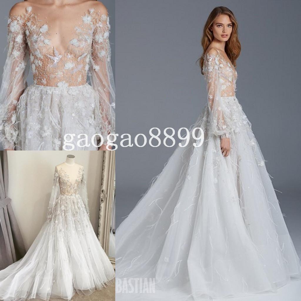 Wedding Dresses Shop Paolo Sebastian Wedding Dresses With Long ...