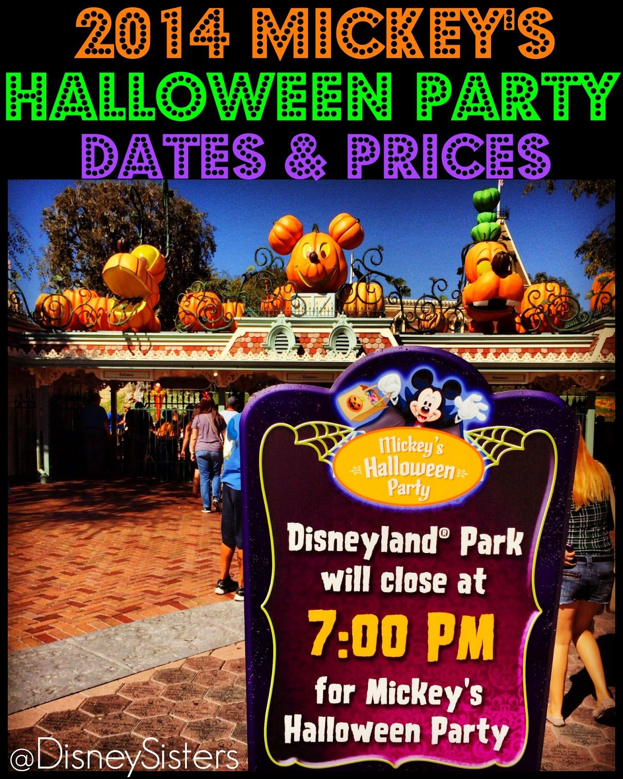 2014 Mickey's Halloween Party Dates and Ticket Prices #Disneyland ...
