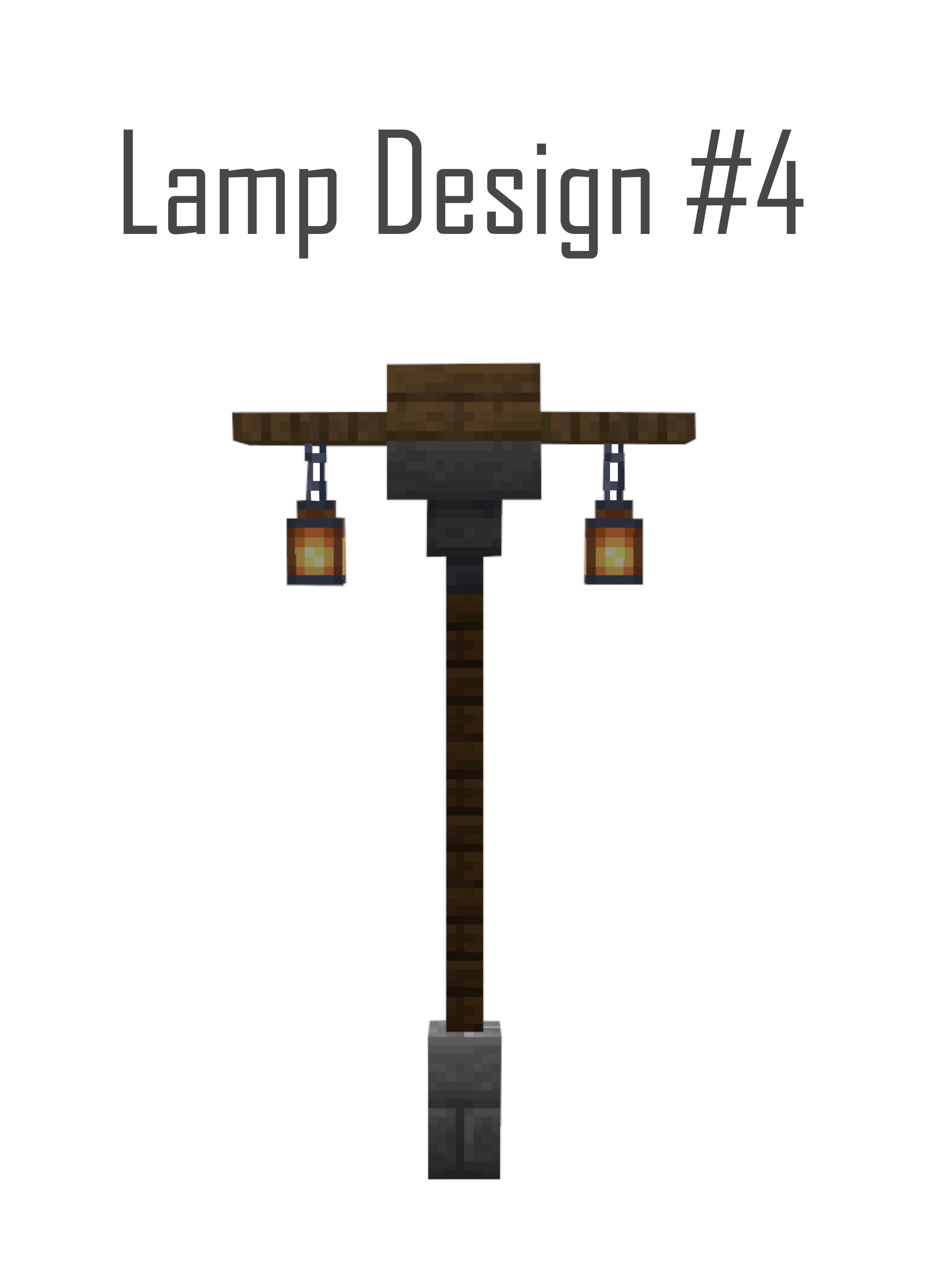 Small Street Lamp Design In 2020 Minecraft Blueprints Minecraft Tutorial Minecraft Designs