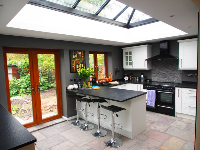 Kitchen Skylights Design Inspirations With Kitchen Extension With Skylight