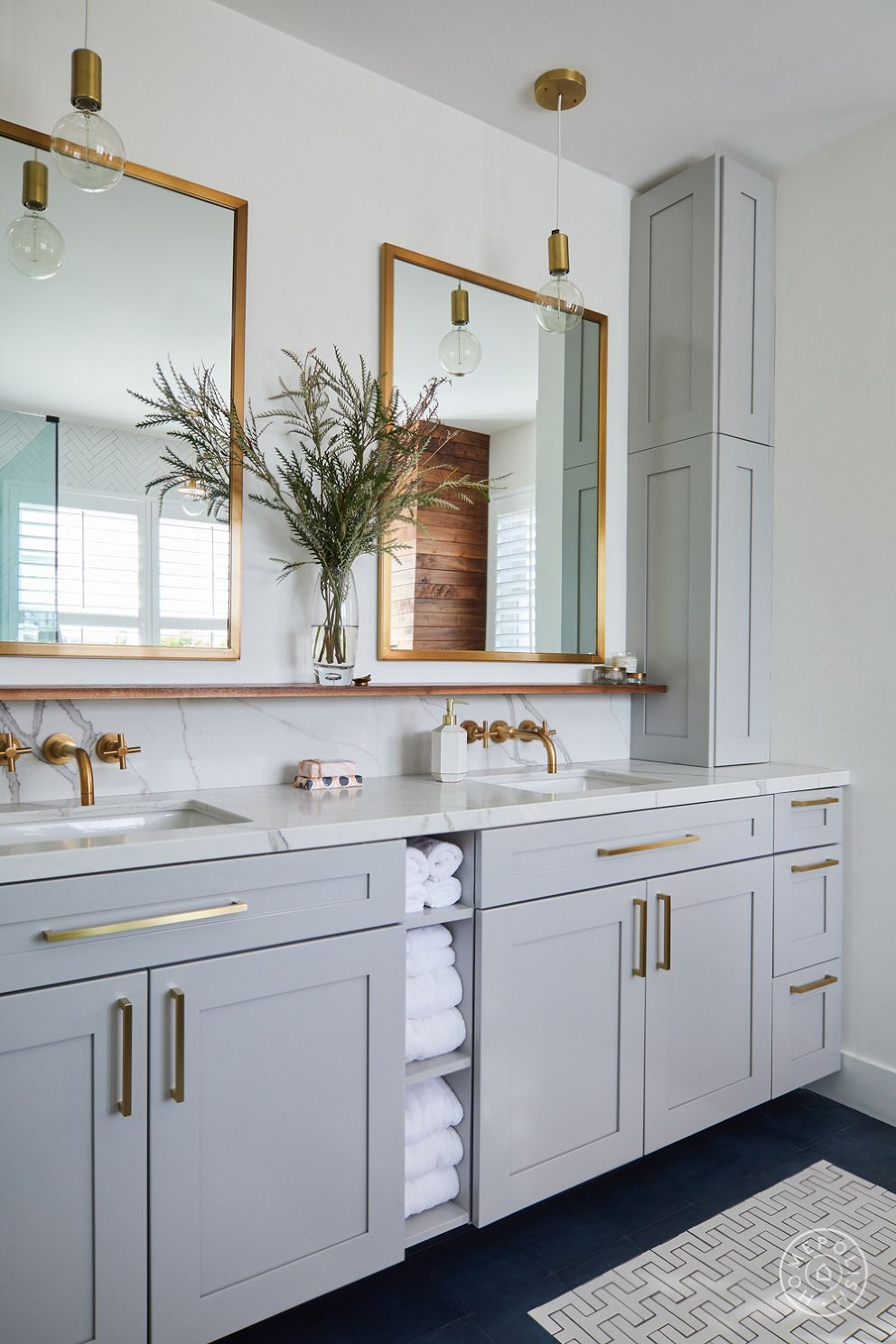 Photo of Bathroom Vanity Shelves