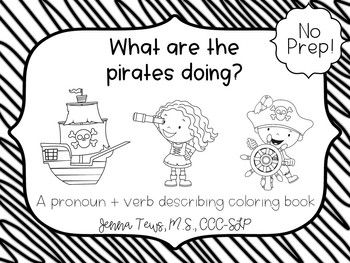 What are the pirates doing? No Prep coloring activity