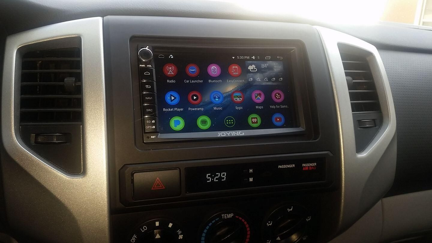 toyota tacoma installed joying double din head unit head unit car gps gps navigation toyota tacoma installed joying double
