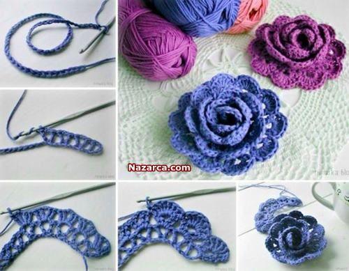 Mavi Orgu Cicekler El Işi Dünyam Pinterest Crochet Crochet