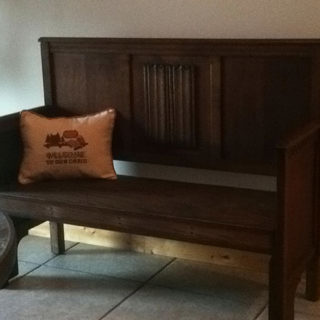 Antique Headboard Bench: Antique Head Board & Footboard Bench My Husband Made