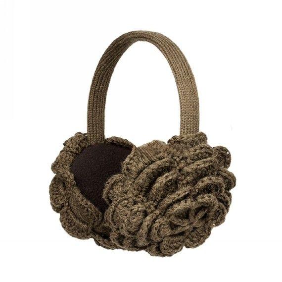 Winter ear muffs por JulyS en Etsy | crochet y mas | Pinterest ...