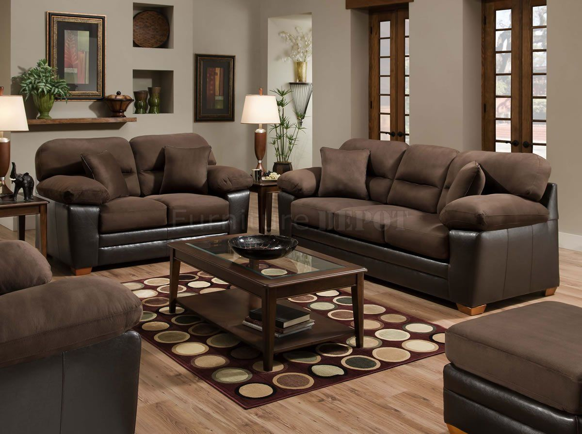 More Brown Couch Theme Brown Furniture Living Room Brown