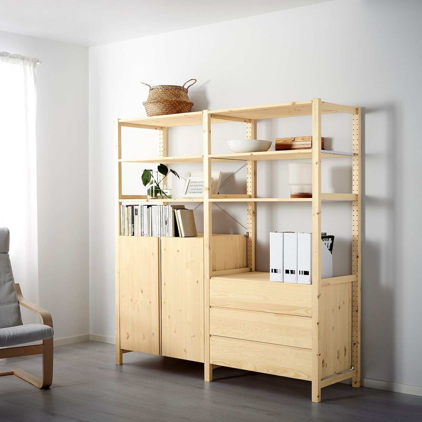 IKEA IVAR 2 sections / shelves / cabinet / chest of drawers
