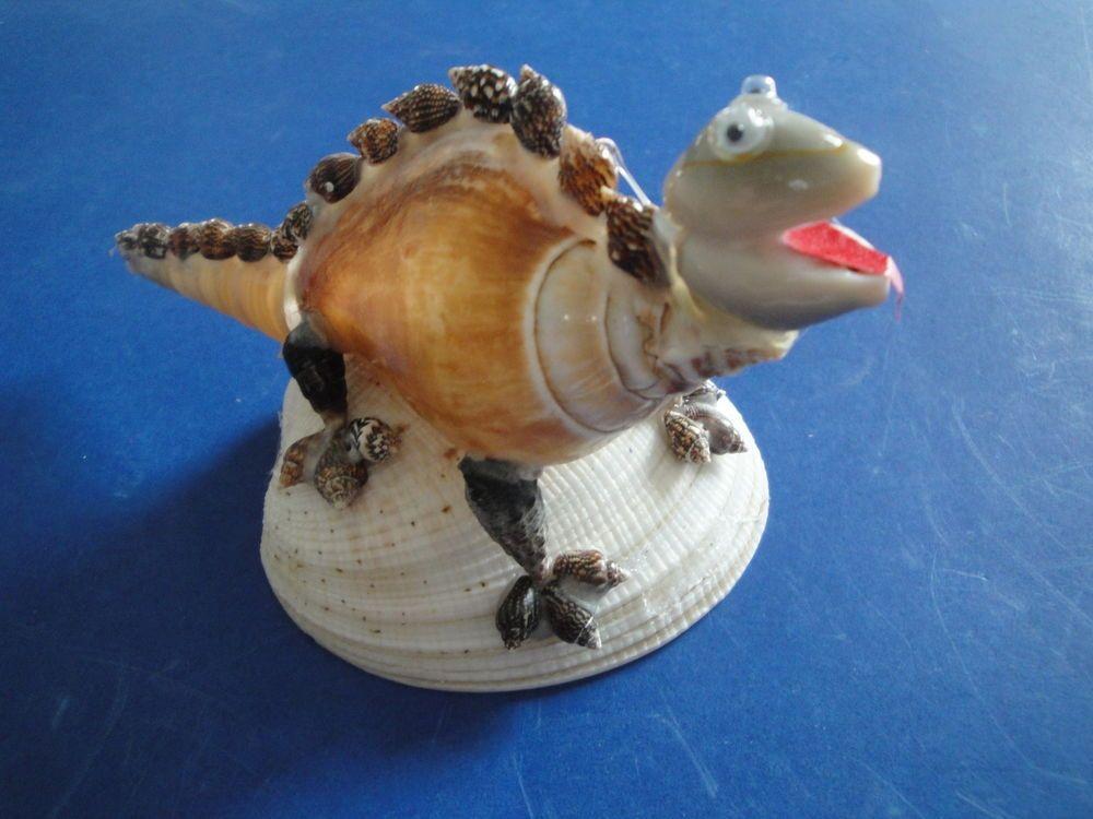 Sea shell seashell canarium shell dinosaur figurine for Shell art and craft