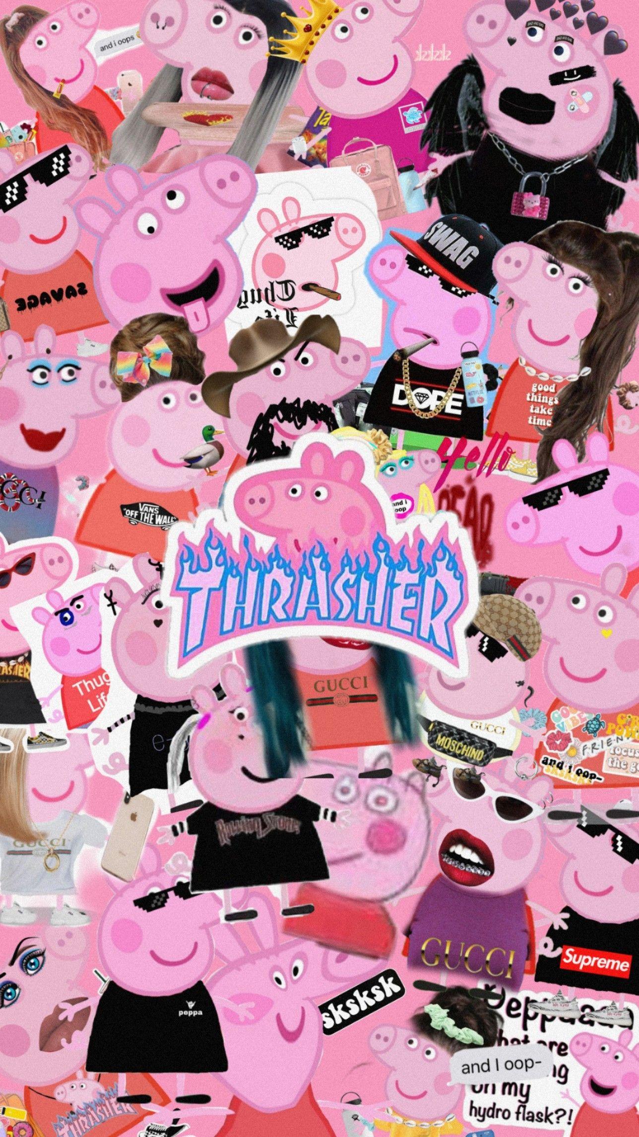 Peppa Pig Aesthetic Wallpaper Pig Wallpaper Peppa Pig Wallpaper Cute Cartoon Wallpapers