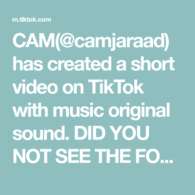 Cam Camjaraad Has Created A Short Video On Tiktok With Music Original Sound Did You Not See The Forecast Pt1 Skit Pt Best Song Ever The Originals Skits