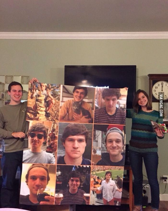 """""""I got my sister and her boyfriend a fleece blanket with pictures of me on it so they know not to misbehave."""""""