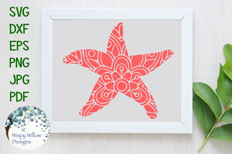 Starfish Floral Mandala Free svg files monogram, Mandala, Svg files for cricut