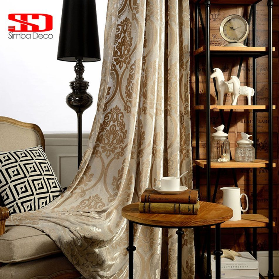 Luxury window coverings  velvet luxury curtains for living room fabric blackout drape