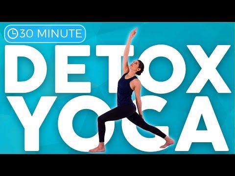 82 30 minute full body yoga flow for detox  digestion