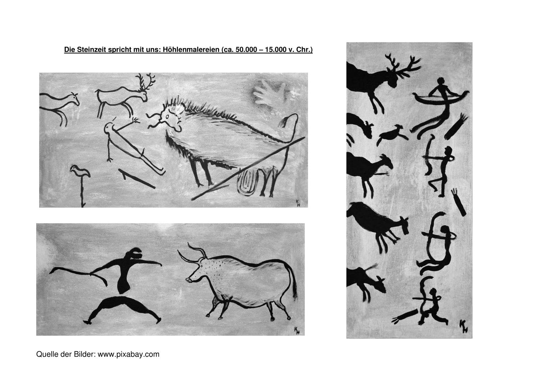 Höhlenmalerei die steinzeit spricht mit uns – unterrichtsmaterial ...