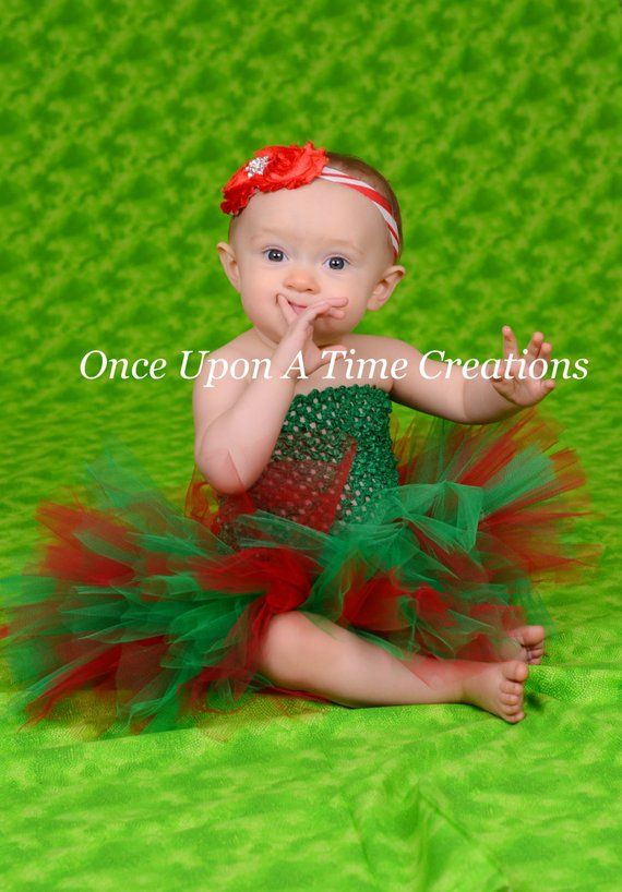 61cc973b8 Little Elf Red Green Tutu or Dress - Newborn Baby Infant Size 3 6 9 12 18  24 Months Girls 3 4 5, Pho