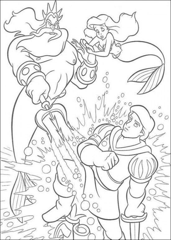 Coloring Pages of Ariel The Little Mermaid Picture 17 550x770 ...