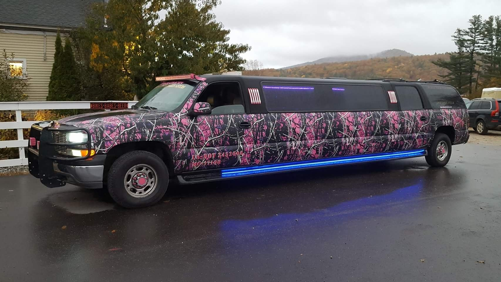 All Shined Up And Ready Muddy Girl Limo Wrapped In Camo Vinyl Www Camomyride Com Muddy Girl Vinyl Limo
