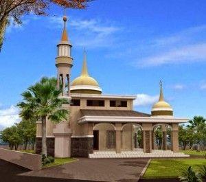 desain masjid minimalis modern jual batu alam   desain