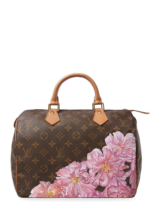 521cab11a72c1 Hand Painted Customized Monogram Canvas Speedy 30 from Original Icons   Customized Vintage Handbags on Gilt